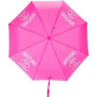 Moschino Guarda Chuva Com Logo Estampado - Rosa