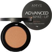 Pó Compacto Fps 50 Advanced Make Up Amyc Uniformizador Bege Médio 12G - Unissex-Incolor
