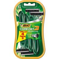 Aparelho De Barbear Bic Comfort 3 Sensitive Leve 4 Pague 3 Unidades