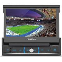 """Dvd Player Automotivo Positron Sp6720 Com Tela Retrátil Touch Screen De 7"""" , Tv Digital, Rádio Fm, Entradas Usb E Entrada Para Câmara De Ré"""