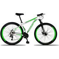 Bicicleta Dropp Aro 29 Freio A Disco Mecânico Quadro 15 Alumínio 21 Marchas Branco Verde
