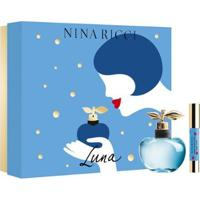 Kit 1 Perfume Feminino Nina Ricci Luna Edt 80Ml + 1 Batom Lipstick Luna - Unissex-Incolor