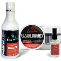 Kit Shampoo 300Ml + Máscara Hidratação 300G + Sérum 60Ml Reconstrutor Louhi - Unissex-Incolor