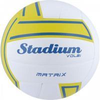 Bola De Vôlei Stadium Matrix - Branco/Amarelo