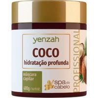 Máscara De Hidratação Profunda Yenzah - Spa Do Cabelo Coco 480G - Unissex-Incolor