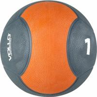 Medicine Ball Vollo Vp1001 De Borracha 1 Kg Cinza E Laranja - Unissex