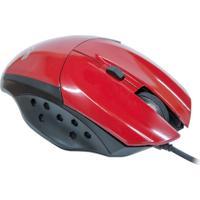 Mouse Óptico Gamer Evus Precision Vermelho Usb 1.600Dpi Modelo Mg-07