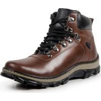 Bota Coturno Top Franca Shoes Masculino - Masculino-Marrom