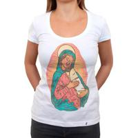 Madonna Y Bebe Burrito - Camiseta Clássica Feminina