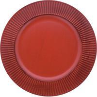 Sousplat Redondo Vermelho 33Cm - 28776