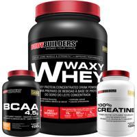 Kit Waxy Whey 900G Chocolate Bcaa 4,5G 100G 100% Creatine 100G – Bodybuilders