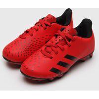 Chuteira Adidas Performance Infantil Predator 21 4 Campo Jr Vermelha