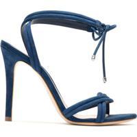 Schutz Sandália Lace-Up Nobuck - Azul