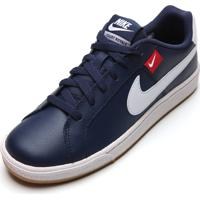 Tênis Couro Nike Sportswear Court Royale Tab Azul-Marinho