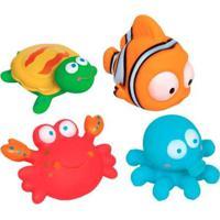 Bichinhos Para Banho Infantil Buba 4 Peças Oceano - Unissex-Verde