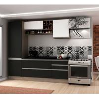 Cozinha Compacta Veneza 6 Pt 3 Gv Onix Com Branco