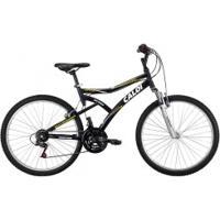 Bicicleta Caloi Andes - Aro 26 - Freio V-Brake - Câmbio Caloi - 21 Marchas - Preto/Prata