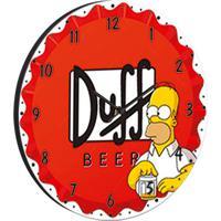 Relógio De Parede Duff Vermelho