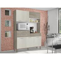 Cozinha 6 Portas Orion Arena/Nogal - Lc Móveis