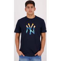 Camiseta New Era Mlb New York Yankees Court Marinho