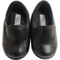 Sapato De Bebê Social Preto Para Batizado