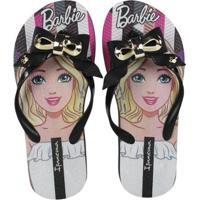 Sandália Infantil Grendene Barbie Feminina - Feminino-Preto