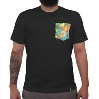Tropical Vertical - Camiseta Clássica Com Bolso Masculina