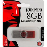 Pen Drive 8Gb Data Traveler 101 G2 - Kingston - Vermelho