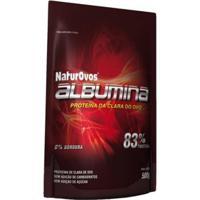 Albumina Pura 500Gr Com Sabor - Naturovos - Unissex-Morango