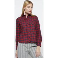 Camisa Xadrez Com Bolso- Vermelha & Azul Marinhovip Reserva