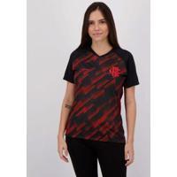 Camisa Flamengo Upper Feminina - Feminino-Preto+Vermelho