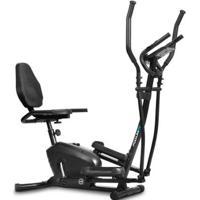 Elíptico E Bicicleta Ergométrica Podiumfit Eh100 2 Em 1 Silencioso - Unissex-Preto