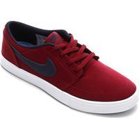 Tênis Nike Sb Portmore Solar Masculino - Masculino-Vermelho+Branco