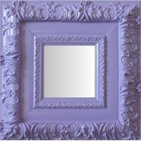 Espelho Moldura Rococó Externo 16253 Lilás Art Shop