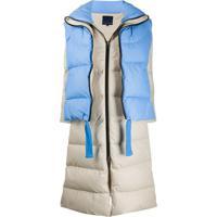 Sjyp Convertible Layered Padded Coat - Azul