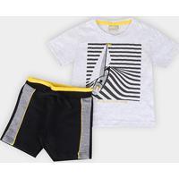 Conjunto Infantil Milon Nautical Club Masculino - Masculino-Mescla
