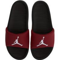 Chinelo Nike Jordan Break - Slide - Masculino - Preto/Vermelho