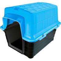 Casinha Plástica Retangular Para Pets 40X41Cm Azul