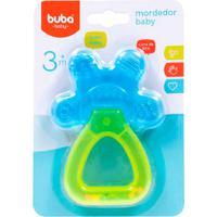 Mordedor Para Bebê Buba Gelado Com Água Chocalho Baby Azul