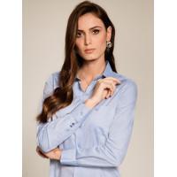 Camisa Social Azul Personalizada