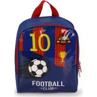 Lancheira Luxcel Football Azul E Vermelho Azul E Vermelho