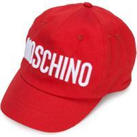 Moschino Kids Boné Com Logo Bordado - Vermelho