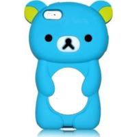Capa Case Para Iphone 4/4S Silicone Ursinho Hila Azul