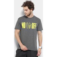 Camiseta Gonew No Days Off Masculina - Masculino-Cinza