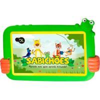 """Tablet Infantil Dl Sabichões Tx386Bvd 7"""" 8Gb Wi-Fi Branco/Verde"""