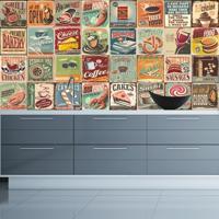 Adesivo Azulejos Cozinha Vintage (20X20Cm)