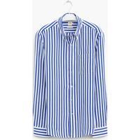 Camisa Linho Com Algod O Listrada Ml Richards