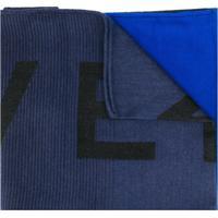 Givenchy Echarpe Com Estampa De Logo - Azul