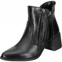 Bota Ankle Boot Dududias10 Tirinhas Feminina - Feminino-Preto