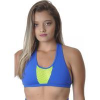 Top Fitness Azul Com Detalhe